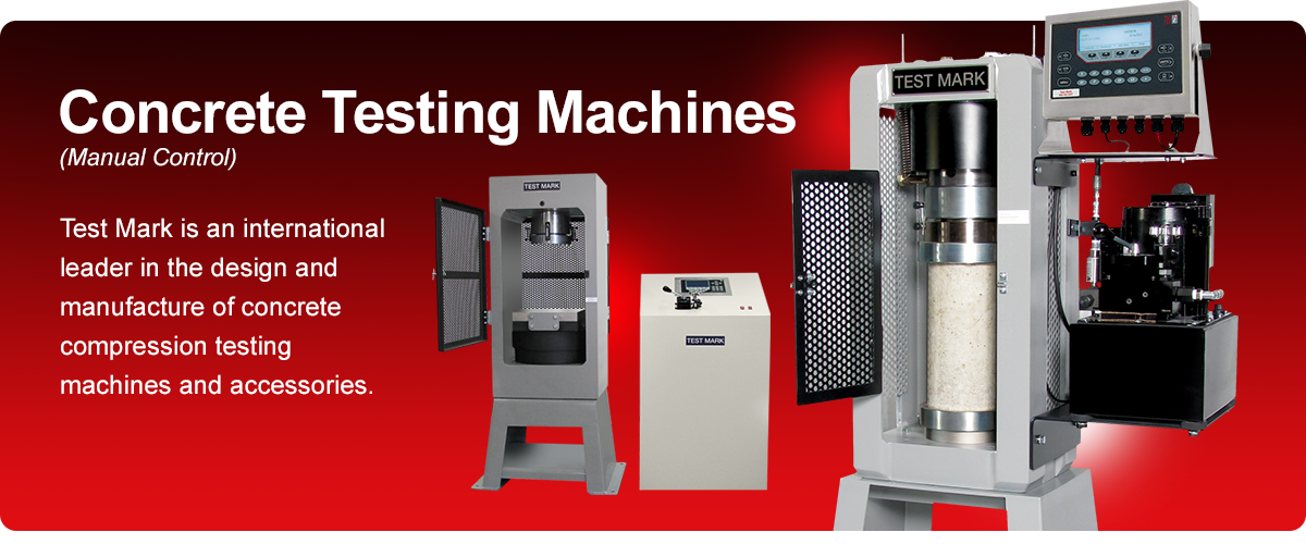 Manual concrete testing machines.