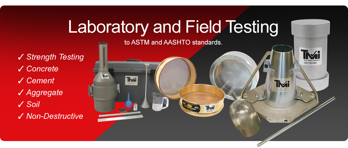 Laboratory and field testing equipment.
